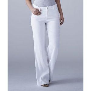 NYDJ Pants - NYDJ Claire white linen pants